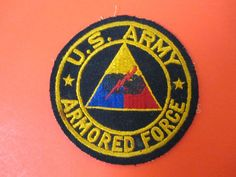Vintage AuthenticWWII  US Army Armored Forces Patch WW2 World War 2