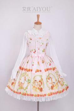 [Excellent] + Lolita Aiyou Ai Mori There Paradise Dress JSK- Taobao