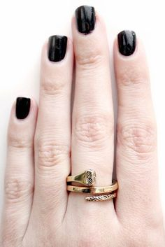 Fancy - House of Harlow 1960 All For the Want of A Horseshoe Ring in Gold