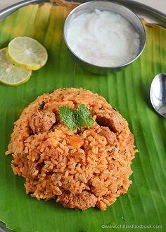 Ambur style veg biryani recipe with soya chunks !
