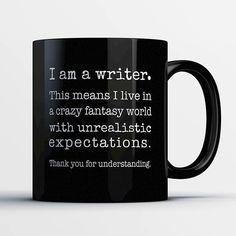 #Writer Coffee Mug #LiteraryGifts WritersRelief.com