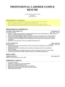 How To Write A Construction Resume Stunning Professional Profile Paragraph Form Resume  Resume Writing .