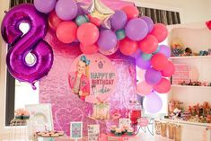 Jojo Siwa Birthday Party feat balloon garland by The Little Carousel and graphics by Millie's Designs, cake by The Bake-Ari Happy 8th Birthday, Jojo Siwa Birthday, 6th Birthday Parties, Baby First Birthday, Birthday Party Decorations, Girl Birthday, Baseball Party, Balloon Bouquet, Balloon Garland