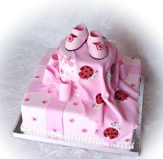 Ladybug Baby Shower Girl Theme pink | ... Shop - Truly Custom Cakery, LLC: Ladybugs and Bows Baby Shower Cake