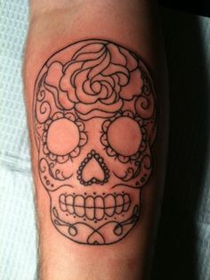 Sugar skull tattoo.