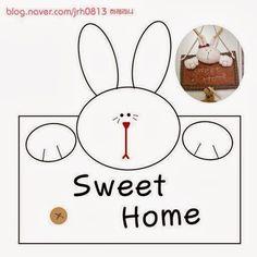 ARTE COM QUIANE - Paps,Moldes,E.V.A,Feltro,Costuras,Fofuchas 3D: molde placa coelho sweet home