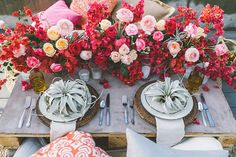 Coastal red and pink wedding ideas