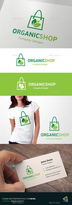 Organic Shop - Logo Design Template Vector #logotype Download it here: http://graphicriver.net/item/organic-shop/14404648?s_rank=193?ref=nexion