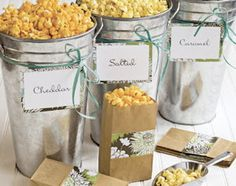 popcorn bar wedding | Nos encantan...¡Los popcorn bar!