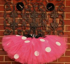 Minnie Mouse tutu ~ What do you think Linda for our Disneyland 5k, classic Red Minnie or Newer Pink Minnie? I'm thinking the Red, it's bright and bold!
