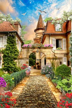 Turrets And Arches And Cobbled Pathways, The Perfect Way To Spend Your Days~ c.c.c~ Фреска - Пассаж