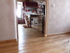 waxed wooden floor