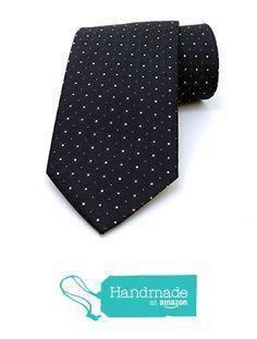 "Black and white dotted men's tie 8 cm (3,15"") DK-022 from Nazo Design… #handmadeatamazon #nazodesign"