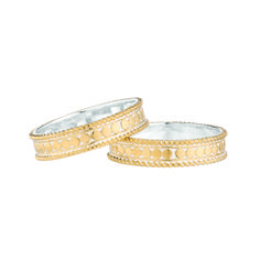 Anna Beck: Rings: Two Stacking Rings - Gold Fine Jewelry, Jewelry Making, Jewellery, Stacking Rings, Gold Rings, Gems, Wedding Rings, Bling, Engagement Rings