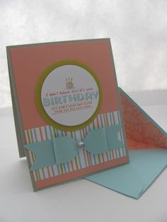 Envelope Punch Board Bow card