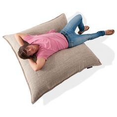 The design of the Zen Lounger bean bag giant pillow is just so flexible and versatile - you can sprawl out full body to study or sit up straight to watch the TV. Bean Bags Australia, Flexible Furniture, Zen, Floor Chair, Woven Fabric, Weaving, Lounge, Sofa, Indoor