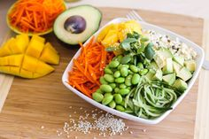 This big plant-based bowl of sushi-inspired ingredients is a great option for a no-cook, flavour-packed lunch or dinner.