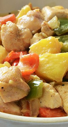 Pina Colada Chicken Recipe ~ there is nothing boring or ordinary about this chicken dish.