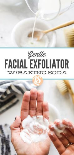 A gentle, two-ingredient facial exfoliator made with kitchen ingredients. Best Skincare Products, Diy Products, Homemade Beauty Products, Homemade Skin Care, Diy Skin Care, All Natural Skin Care, Natural Beauty, Baking Soda Facial, Seasonal Food