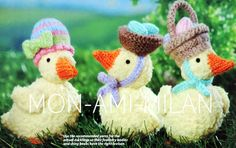 Alan Dart Knitting Pattern Easter Parade Chicks Ducklings in Easter Bonnets Toys Craft Patterns, Knitting Patterns, Alan Dart, Modern Toys, Easter Parade, Toy Craft, Stuffed Toys Patterns, Cross Stitch, Christmas Ornaments