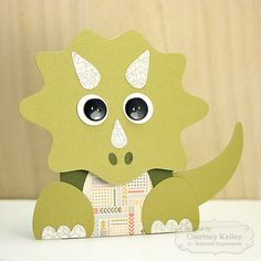 Dinosaur Gift Card Holder by Courtney Kelley #SackIttoyou, #GiftGiving, #GiftCardHolder