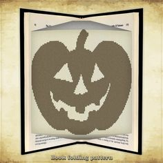 Book folding pattern Halloween Pumpkin for by FoldingBookPatterns