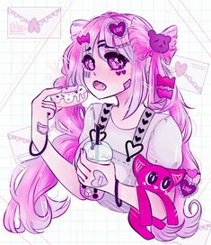 ariimaw Draw this in your style by Kaihaii on DeviantArt Anime Girl Neko, Cool Anime Girl, Cute Anime Chibi, Kawaii Chibi, Kawaii Art, Kawaii Anime, Character Art, Character Design, Pastel Goth Art