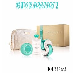 Its Giveaway time!  Win a free Bvlgari Omnia Paraiba gift set! Set includes: 2.2 oz Eau de Toilette Spray, 2.5 oz Body Lotion, 2.6 oz Scented Soap and a pouch. Follow @perfumesurprise on IG  Repost this picture  Tag @perfumesurprise  Tag 3 of your fellow perfume lovers  Good luck! Giveaway ends 04/16/17 and the winner will be announced 04/17/17. Open to US residents only.