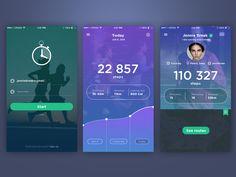 Fitness tracker app by Stas Petryanick