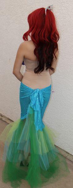 DIY Mermaid costume DIY ariel little mermaid costume (1) lol Katie's telling me somethin