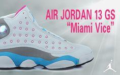 "Air Jordan 13 GS ""Miami Vice"" Women's Basketball Shoes"