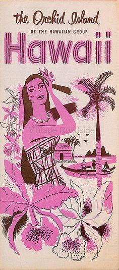 Hawaii - The Orchid Island. Mid-1950s travel brochure.