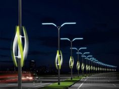 Eco shocker: Turbine Light concept uses wind to light highways Ingenious, eco-friendly concepts are all around us. The Turbine Light concept harnesses the power of the wind from cars rushing past to light up the ever-darkening roadways.