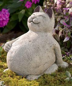 Beau Volcanic Ash Lucky Cat Figurine Garden Statues, Garden Sculpture, Outdoor  Statues, Cat Garden