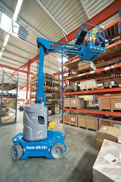 Genie AWP manufactures an extensive range of boom lifts, from compact and agile electric booms for maintaining industrial facilities, to rough terrain machines for major construction projects. These machines are commonly known as Genie cherry pickers. Weight Machine, Machine Design, Industrial, Scaffolding, Tools, Group, Lego, Trucks, Business