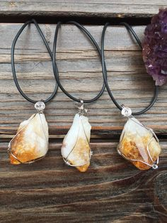 Citrine Wire Wrapped Jewels  www.Urban-Mystics.com  #Citrine #healingcrystals #crystaljewelry