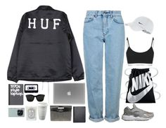 """Untitled #2778"" by wtf-towear ❤ liked on Polyvore featuring HUF, Topshop, NIKE, Barneys New York, ASOS, Diptyque, STELLA McCARTNEY, ...Lost and Samsung"