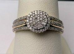 10kt Yellow Gold Round Halo Vintage Style Diamond Engagement Wedding Bridal Ring (0.25ct. tw)............ #gold #diamond #bridal #engagement #wedding #ring #fashion #jewelry #jewelryring #diamondring #engagementring #fashionring #lovely #Richmondgoldanddiamonds
