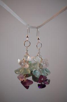 Fluorite chip earrings