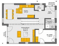 Architekten-Haus Trento 153 - Grundriss Erdgeschoss