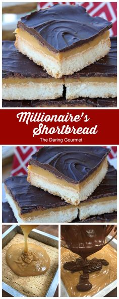 This luxurious Millionaire's Shortbread features rich and buttery Scottish shortbread with a layer of caramel and chocolate. It's phenomenally delicious! Toffee Cookies, Spice Cookies, Chocolate Chip Cookies, Bar Cookies, Best Dessert Recipes, Easy Desserts, Cookie Recipes, Shortbread Recipes, Bar Recipes