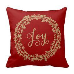 Joy Wreath | Holiday Throw Pillow