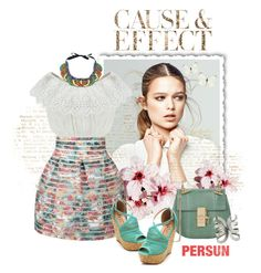 """""""Cause & Effect"""" by agathalizz ❤ liked on Polyvore featuring Envi, Chloé, persunmall and persun"""