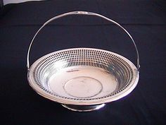 Art Deco Cosmos E.P.N.S Silver Plated Basket U.S.A check out at platinum-333.ecrater.com.au
