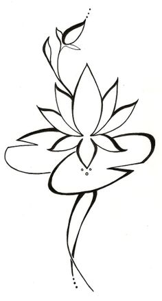 Lotus Lilypad Original Tattoo Design by silverwingstattoos on Etsy, $18.00