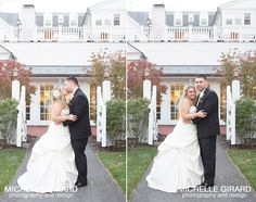 Lord Jeffery Inn Fall Wedding in Amherst MA :: Bride and Groom's Portrait :: Michelle Girard Photography