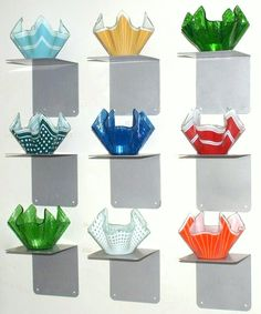 these are 'Hanky vases by Chance Glass, circa 1970s. £250.00
