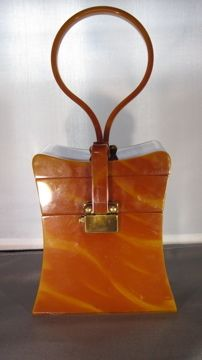 Wilardy Caramel Swirl Lucite Bag Beautiful Condition | eBay
