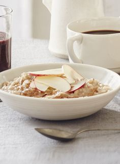 This apple and almond porridge recipe is a filling and wholesome breakfast that counts as one of your five a day. Find more breakfast recipes on the Waitrose website.
