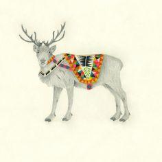 Lisa Congdon Art + Illustration » male reindeer